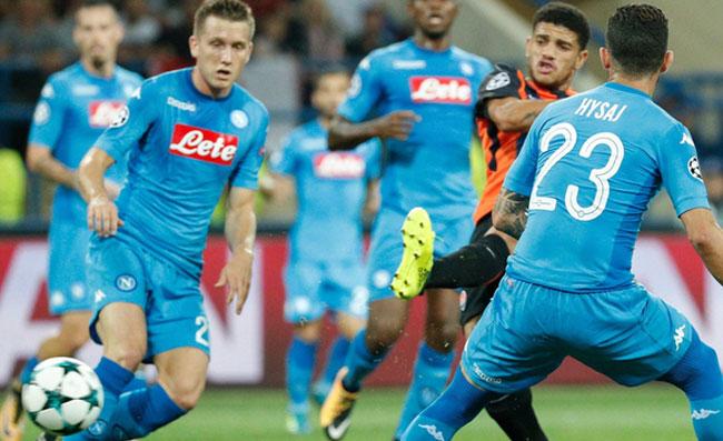 Champions: cade anche il Napoli, vince lo Shakhtar 2-1
