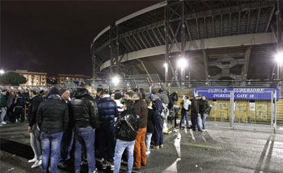 Biglietti Napoli-Real Madrid, Curve in Prelazione non vengono Vendute