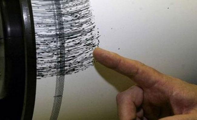 Scossa di magnituto 5.7 nel Tirreno Meridionale