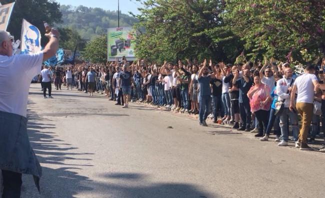 Napoli, in 20mila a Capodichino ad attendere la squadra -FOTOGALLERY