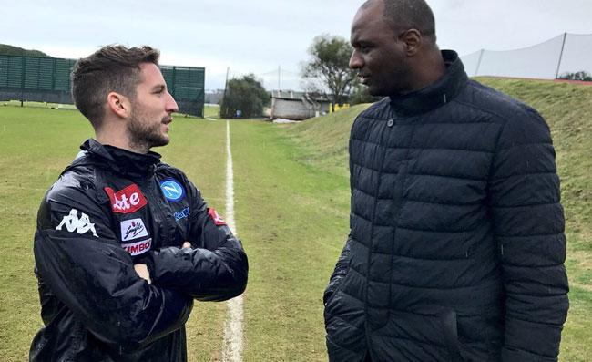 Visita speciale a Castel Volturno: Vieira incontra gli azzurri